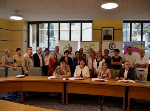 Signature d'une convention de partenariat entre le Département de la Lozère et les Chambres Consulaires le 21 juillet 2017